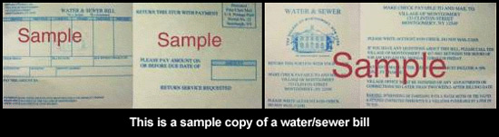 Village of Montgomery Water & Sewer bill example